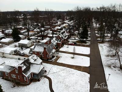 Neighborhood in the Snow