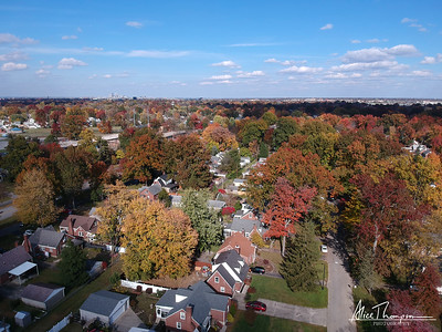 Neighborhood fall color - Louisville, Kentucky