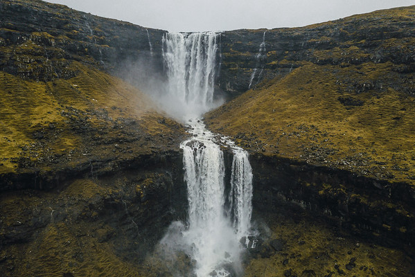 Fossa,  the highest waterfall on the Faroe Islands.