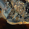 Iron and Sulphur deposits colour the rocks alongside the Rio Tinto in Huelva Spain