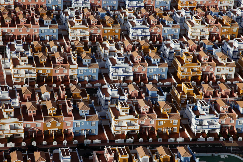 Dream living .Empty unsold housing , Spain
