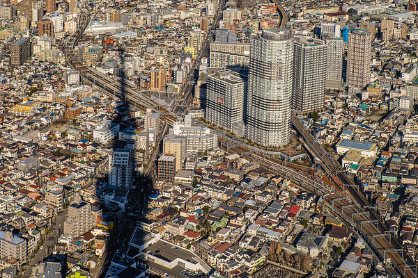 Downtown Tokyo from Skytree