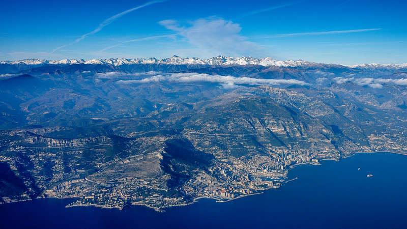 A view at Monaco from above
