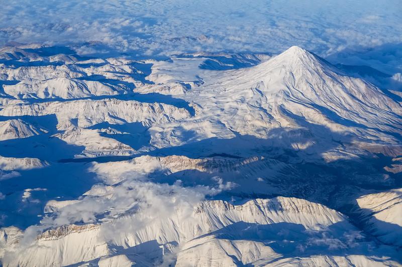 Sunset over Mount Damavand - Iran