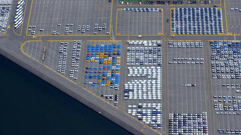Car port at Zeebruges, Belgium