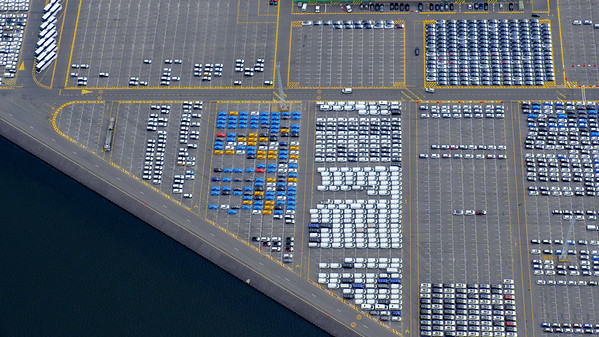 Car port at Zeebruges, Belgium