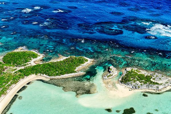 Rugid coastline near Stella Maris, Long Island, Bahamas