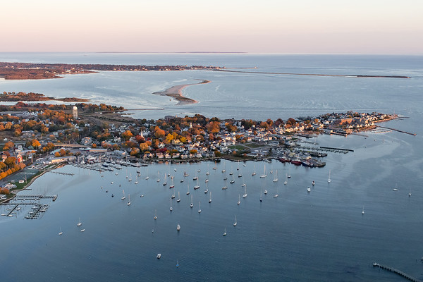 Stonington Harbor from the Air