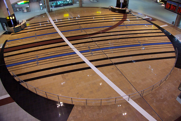 Tambo International Airport - Johannesberg, South Africa - not much traffic at the main terminal at 4:00 AM.