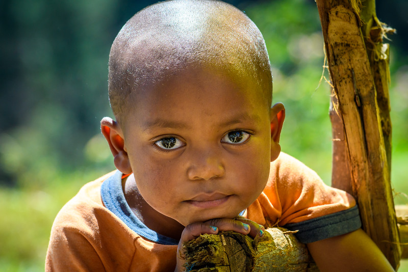 Young boy near Antasibe, Madagascar