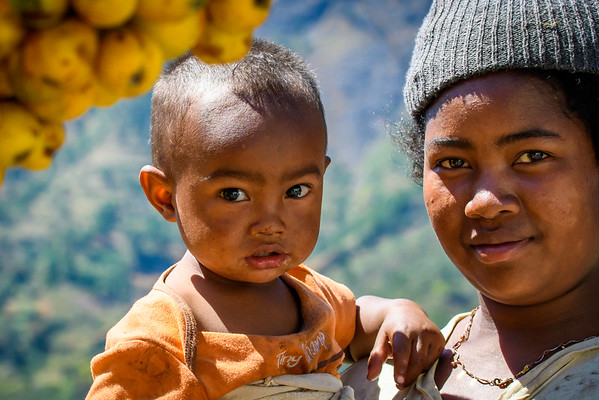 Mother and child near Antasibe, Madagascar