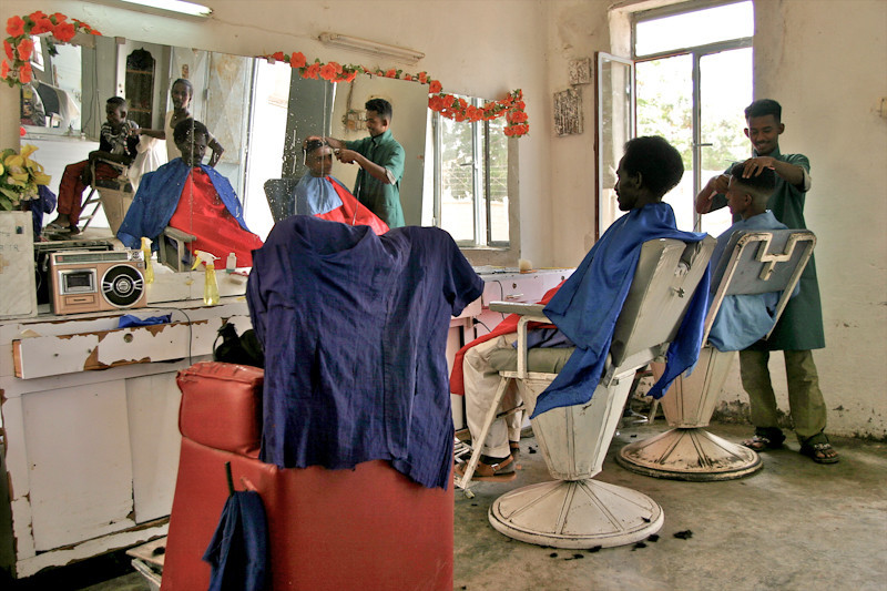 Barber shop in Eritrea