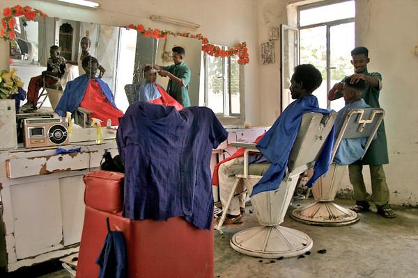 Barber shop in Eritrea