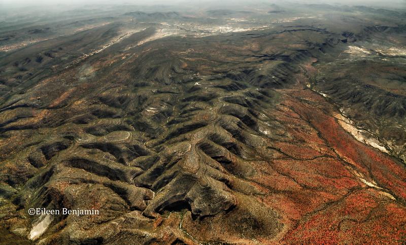Flight over Etosha Pan National Park to Puros