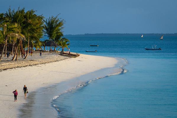 Nungwi Resort coastline, Zanzibar