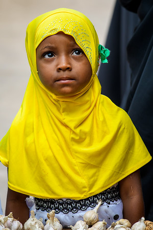 Young girl in the Market, Zanzibar