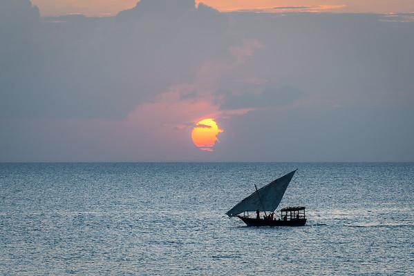 Dhow at Sunset, Zanibar