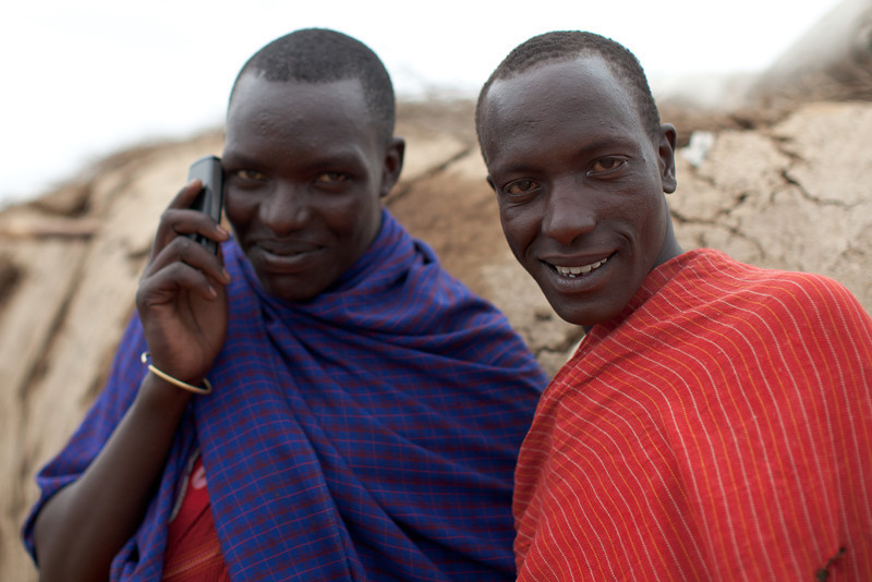 Local Maasai - he wasn't ringing Domino's!