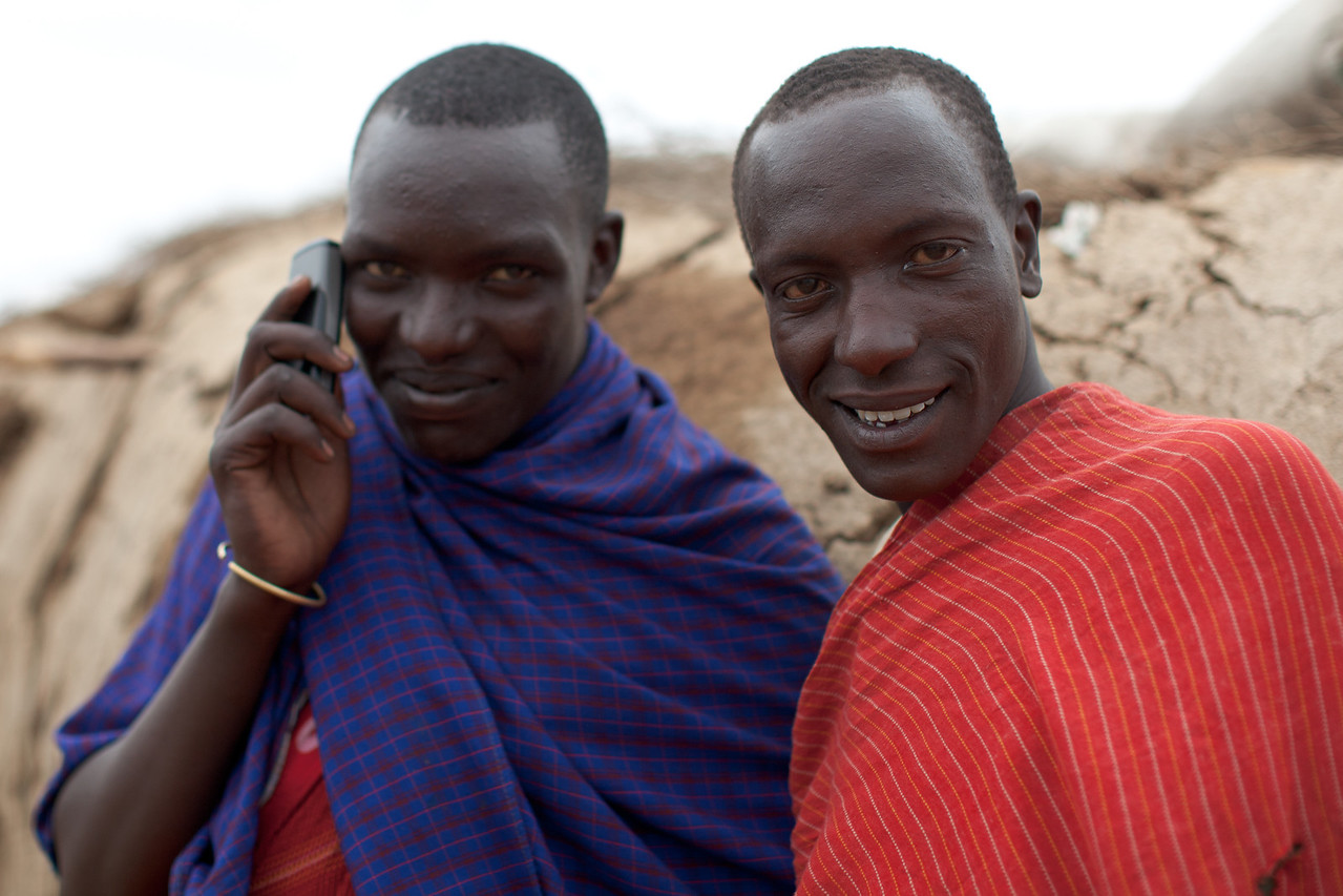 Local Maasai - he wasn't ringing Domino's!