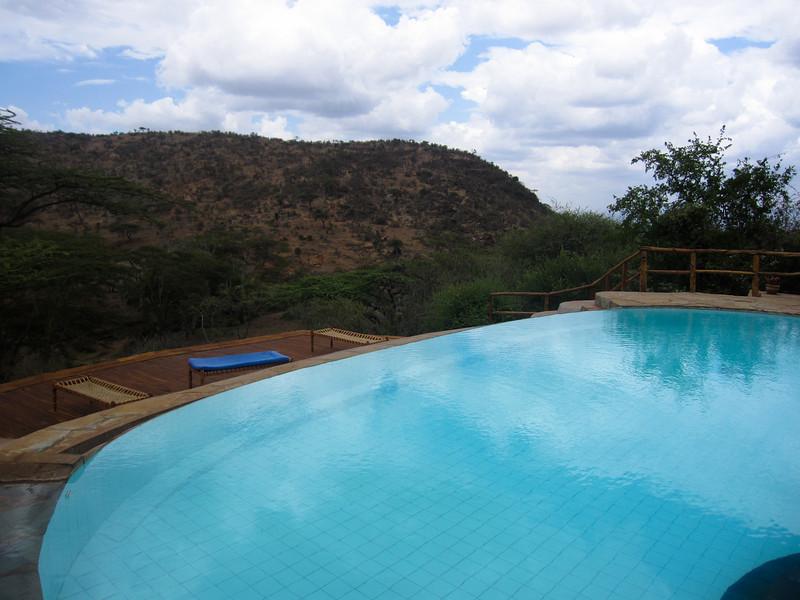 The endless pool at Lewa.