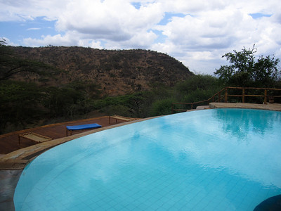 The endless pool at Lewa.