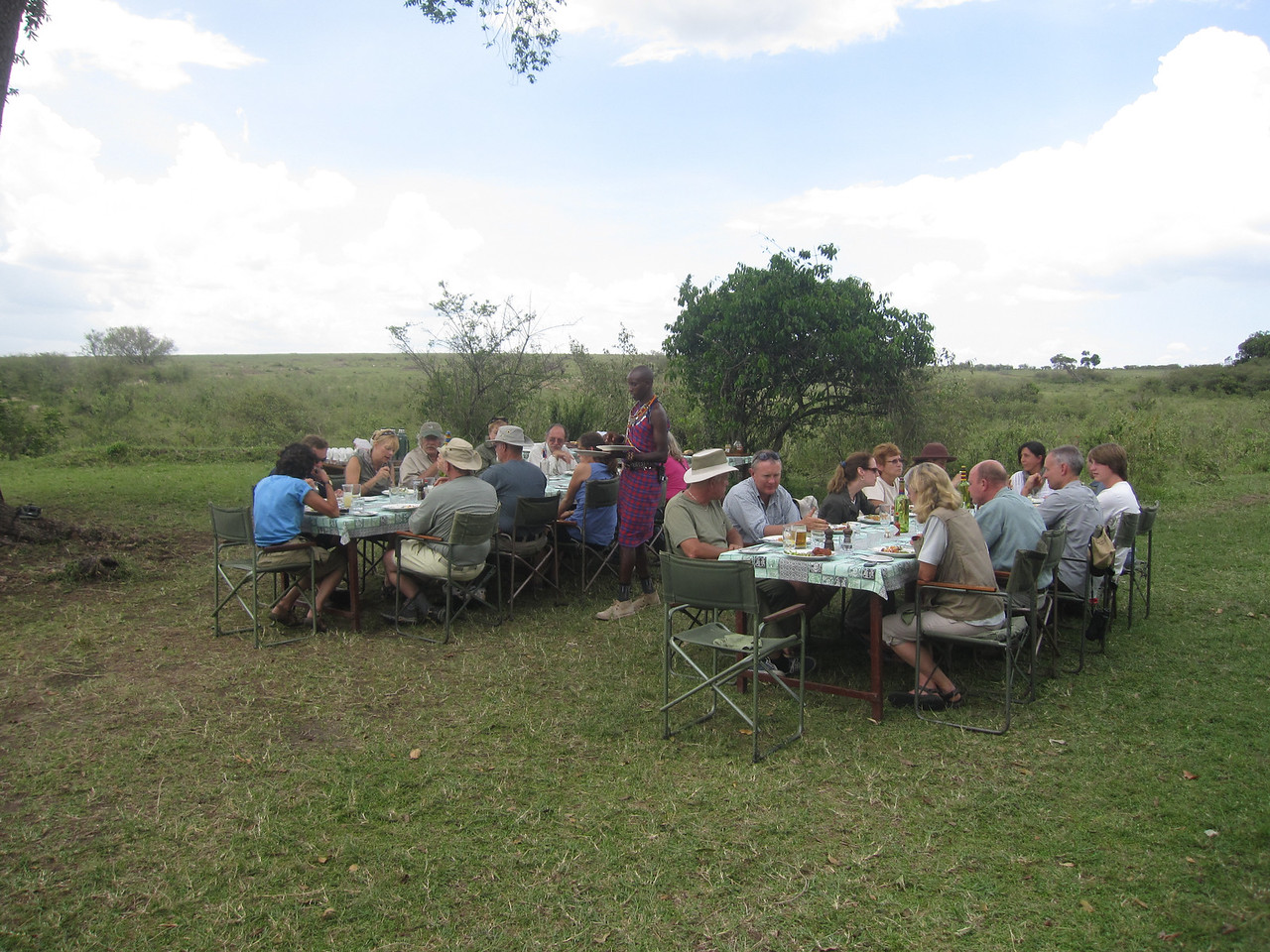 At Rekero camp, breakfast is under one tree, lunch another, and dinner is yet in a third place - so awesome.