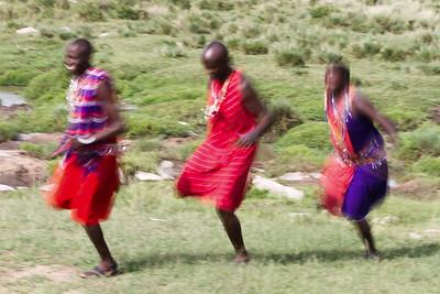 The one-legged Maasai races!