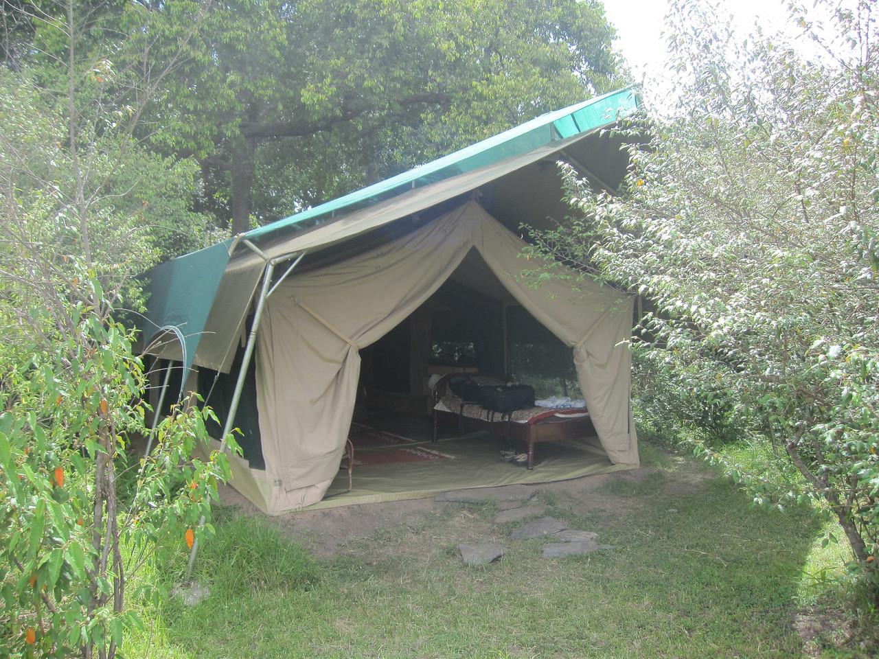 Rekero Camp, Maasai Mara.  Our tent.