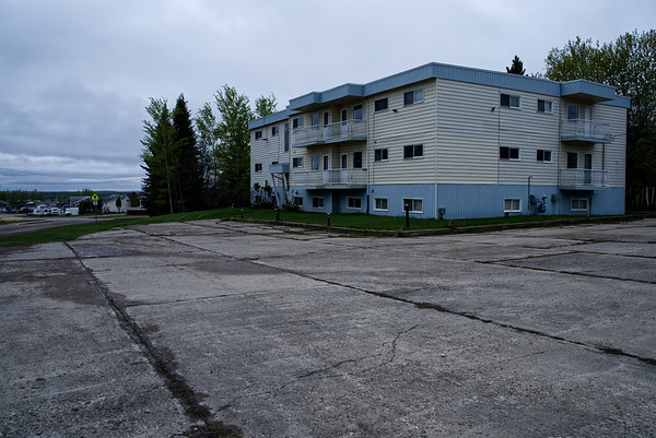 Empty apartment building in Fort Nelson.
