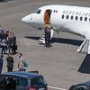Le President Macron de retour au Touquet en Avion aprés son élection © 2017 Olivier Caenen, tous droits reserves