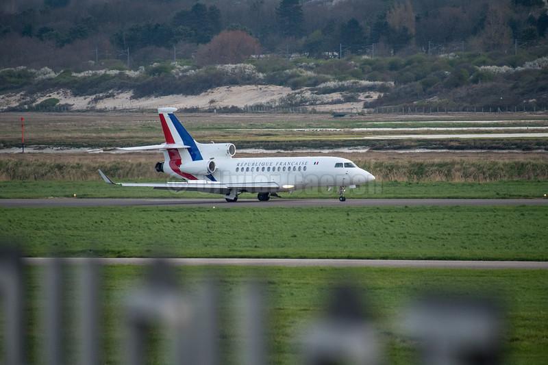 Le Président Hollande à l'Aeroport du Touquet© 2017 Olivier Caenen, tous droits reserves