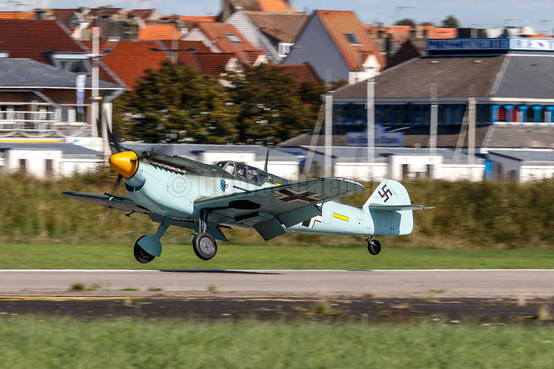 "Hispano HA-1112-M4L Buchon ""Yellow 7? (G-AWHM) © 2018 Olivier Caenen, tous droits reserves"
