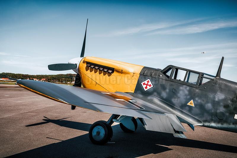 """Hispano HA-1112-M4L Buchon """"White 9"""" (G-AWHH) © 2019 Olivier Caenen, tous droits reserves"""