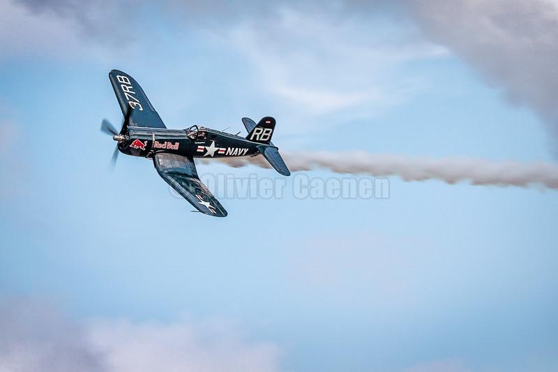 Chance Vought F4U-4 Corsair Redbull OE-EAS © 2018 Olivier Caenen, tous droits reserves