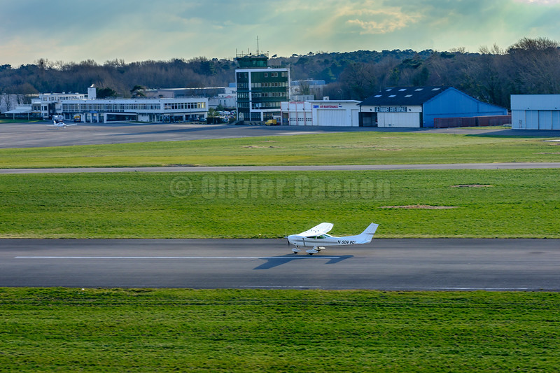 Cessna N609PC Take-off LFAT © 2018 Olivier Caenen, tous droits reserves