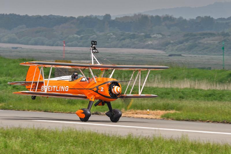 Breitling Wingwalker, Boeing Super Stearman airplane model 75 bi plane