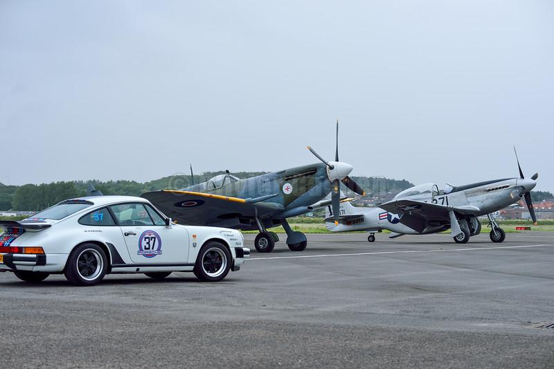 North American P-51D Mustang TF-871,Supermarine Spitfire LF Mk VIIIc G-BKMI - MT928/ZX-M