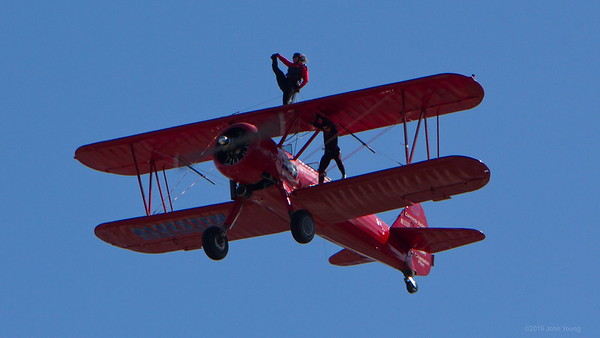 Third Strike Wingwalking at the 2019 Rochester Airshow