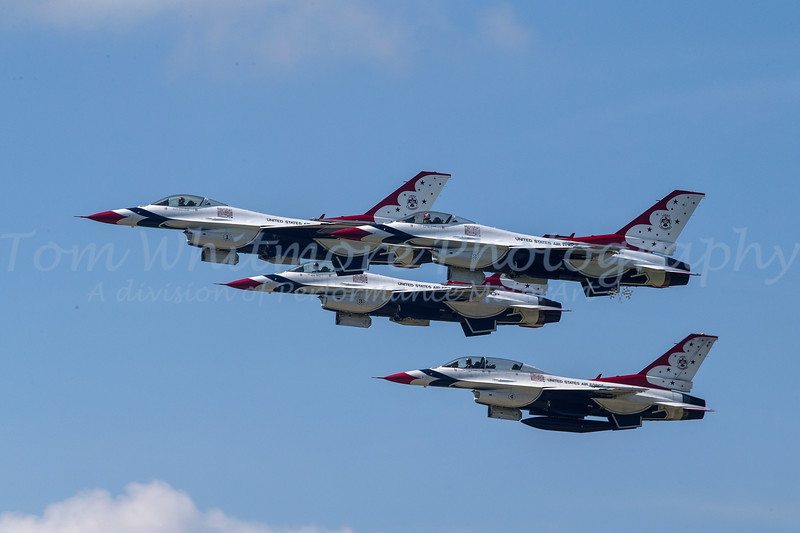 U.S.A.F. Thunderbirds at Airpower over Hampton Roads
