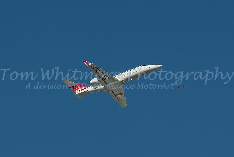 Lear Jet flyover