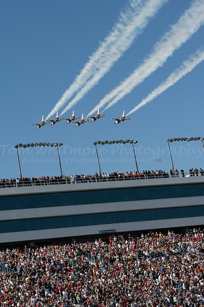 Thunderbirds Flyover at NASCAR
