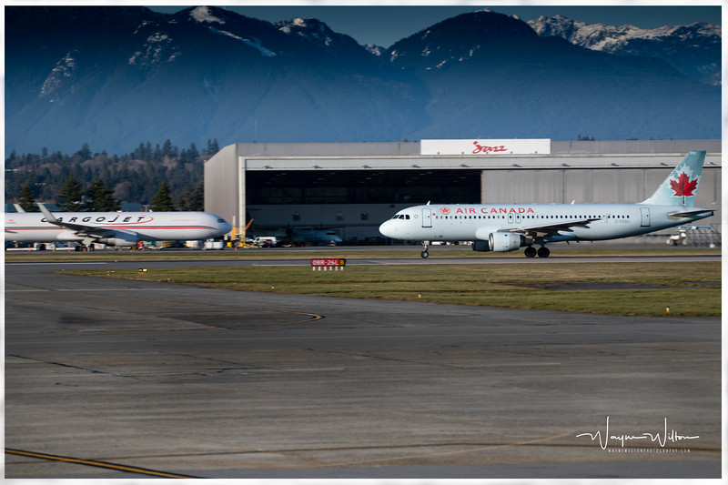 Air Canada Jet takes off at YVR