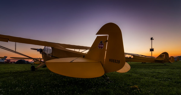 Piper J-3 Cub at Sunrise