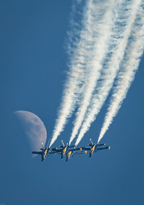 US Navy Blue Angels and the Moon