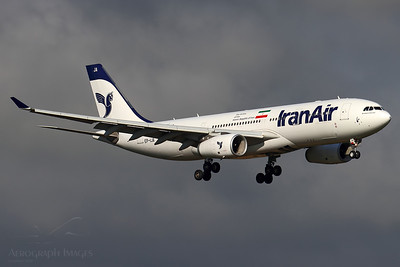 "Reg: EP-IJA Operator: Iran Air Type: Airbus A330-243		    C/n: 1540  Location: Manchester (MAN / EGCC) - UK   ""IRA753"" on short finals to runway 05L at Manchester, arriving on the recently commenced service from Tehran      Photo Date: 08 August 2020 Photo ID: 20...."