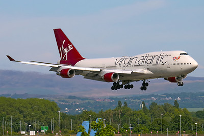 Reg: G-VXLG Operator: Virgin Atlantic Airways Type: Boeing 747-41R		    C/n: 29406/1177  Location: Manchester (MAN / EGCC) - UK   Possibly the last time a Virgin Boeing 747 lands at MAN.  VS803P on short finals to runway 23R, arriving for storage after the airline withdrew the 747 from service     Photo Date: 21 May 2020 Photo ID: 20....