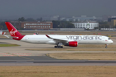 "Reg: G-VLUX Operator: Virgin Atlantic Airways Type: Airbus A350-1041		    C/n: 274  Location: London - Heathrow (LHR / EGLL) - UK   ""VIR687"" to New-York JFK seen taxiing to runway 27L with the weather closing in behind     Photo Date: 21 August 2020 Photo ID: 20...."