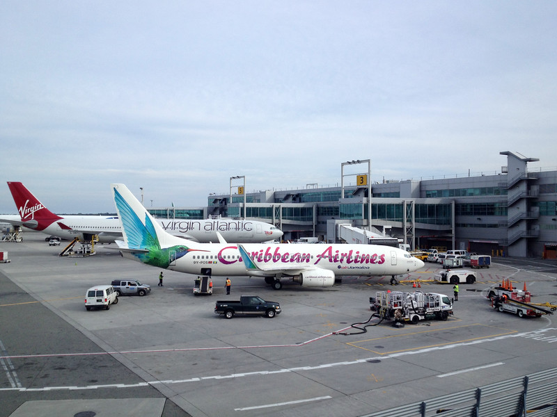 Carribean Airlines Boeing 737-800 and Virgin Atlantic A340-600