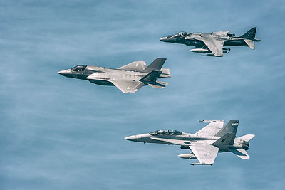 F-35 Lightning, F-18 Hornet &  AV-8B Harrier