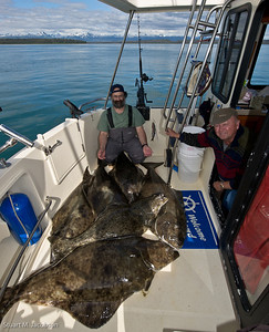 The day's limit of halibut.